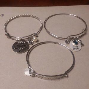 "Set of 3 Bangle Bracelets - ""Stop Animal Cruelty"""